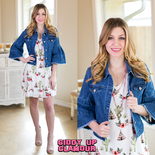 Southern Belle Denim Jacket in Medium Wash