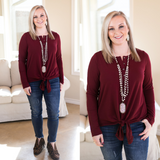 Enchanted By You Tie Top in Maroon