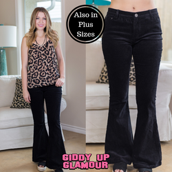Corduroy Flare Pants in Black – Giddy Up Glamour Boutique