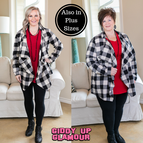 Plaid To Meet You Buffalo Plaid Cardigan in Ivory