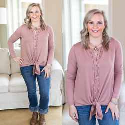 Enchanted By You Tie Top in Blush Pink