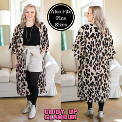 860a767734 Fierce Instincts Leopard Print Duster Kimono in Taupe – Giddy Up ...