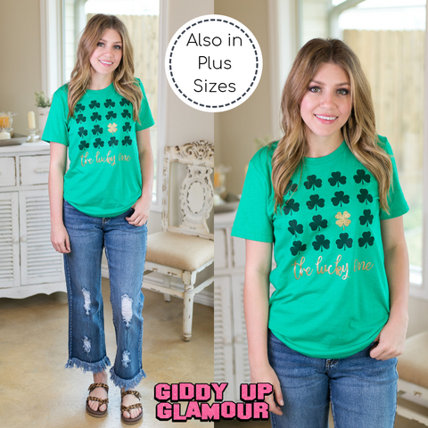 The Lucky Ones Clover Short Sleeve Tee Shirt in Green