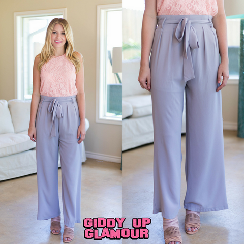Trendy Days Woven Pants in Grey
