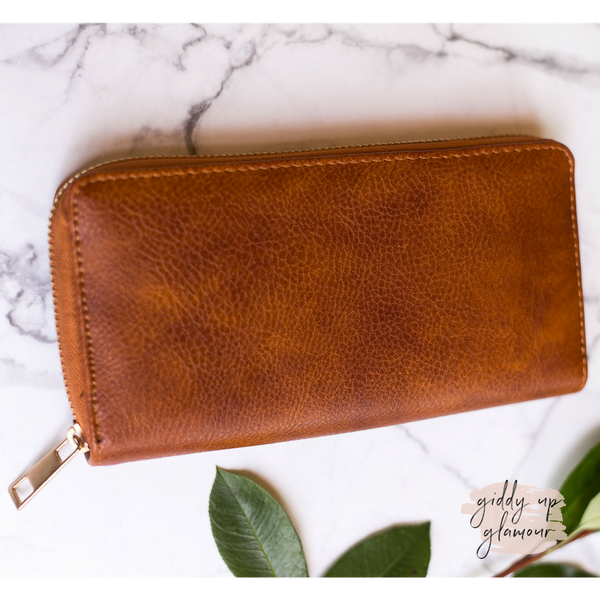 Tan Zip-Around Wallet