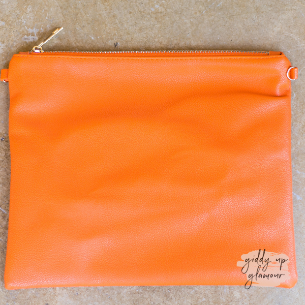 Something New Wristlet or Crossbody Purse in Orange