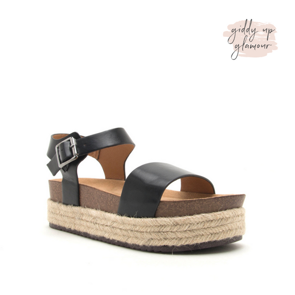 Meet Me in Cabo Espadrille Sandals in Black