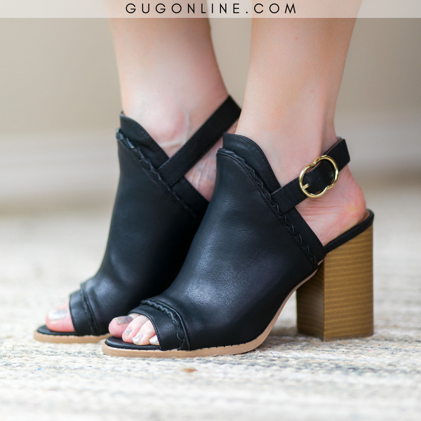 Too Good for You Peep Toe Mule Heels in Black - FURTHER MARKDOWN!!!