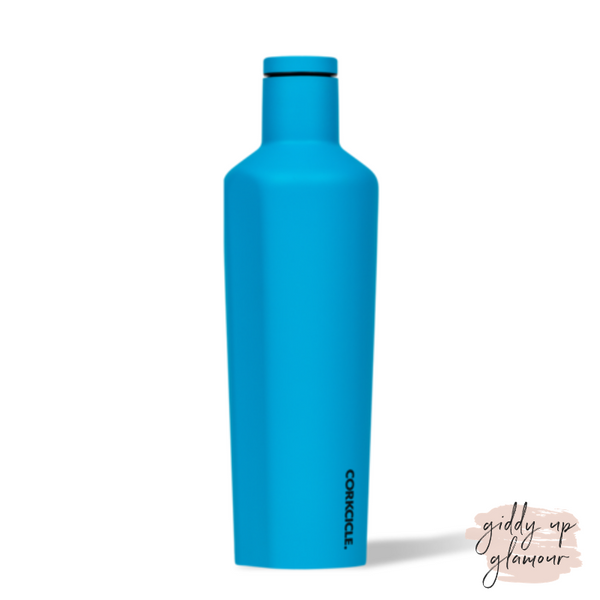 25 oz Corkcicle Neon Lights Collection | Canteen - Neon Blue