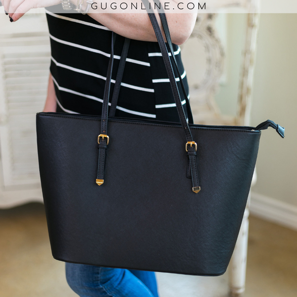 Large Purse Tote Bag in Black