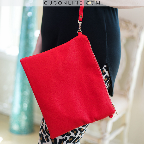 Something New Wristlet or Crossbody Purse in Red