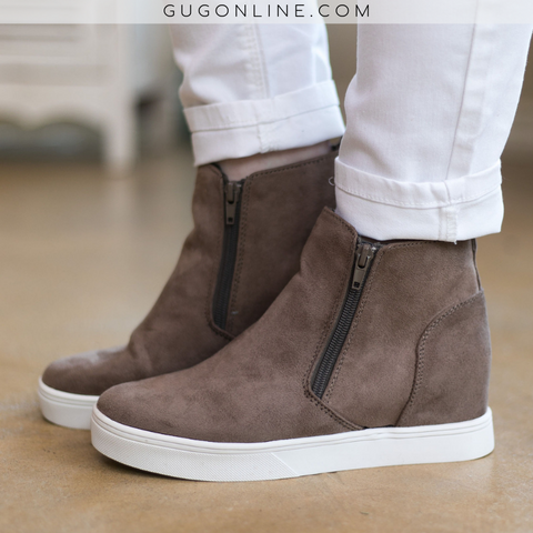Corky's | Do Your Thing Wedge Sneakers in Taupe