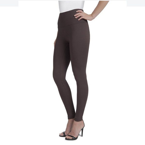 Lysse | Premium Center Seam Ponte Ankle Length Leggings ESPRESSO