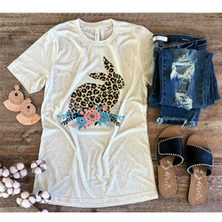 Easter graphic tee boutique trendy holiday christian based tees leopard cheetah