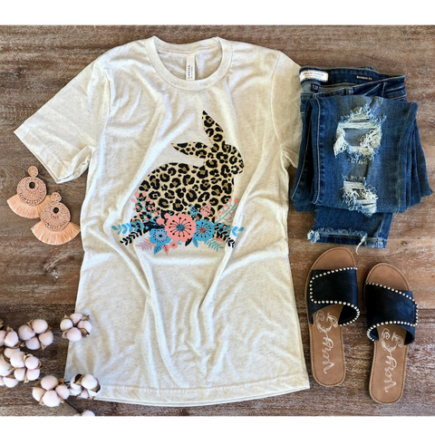 Too Hip to Hop Leopard Bunny Tee