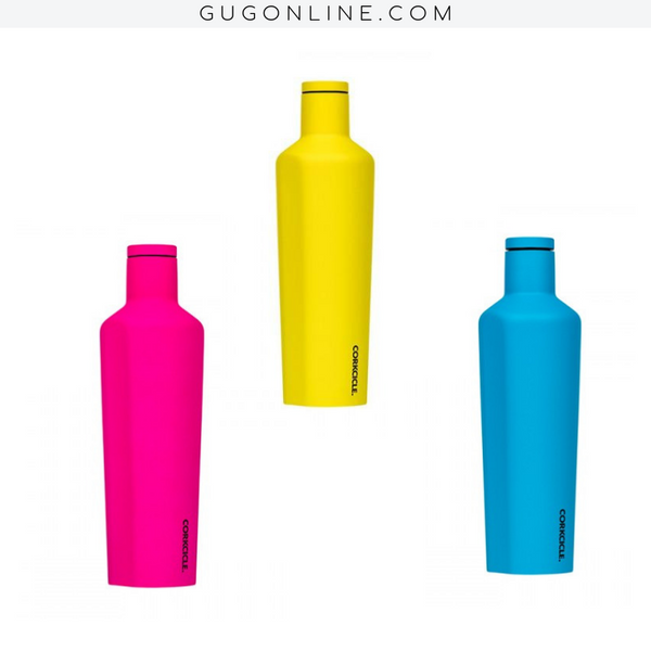25 oz Corkcicle Neon Lights Collection | Canteen - Neon Pink