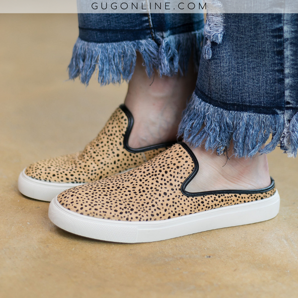 Spotted Slide On Sneakers/Mules | Cute Trendy Sneakers Shoes Leopard Cheetah