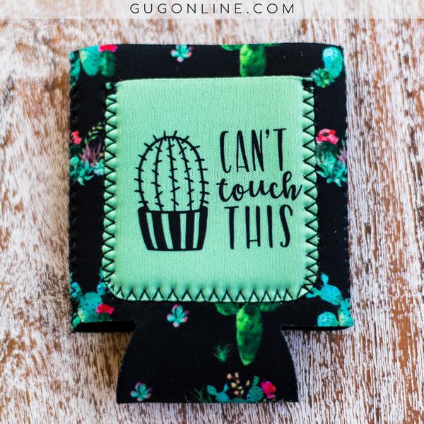 Can't Touch This Cactus Pocket Koozie