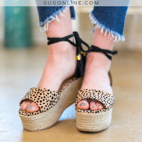 Around Town Prowl Cheetah Espadrille Platform Sandals
