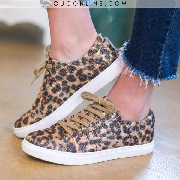 Very G Leopard Jungle Mania Sneakers | Leopard Tennis Shoe | Trendy Sneakers Cheetah Women