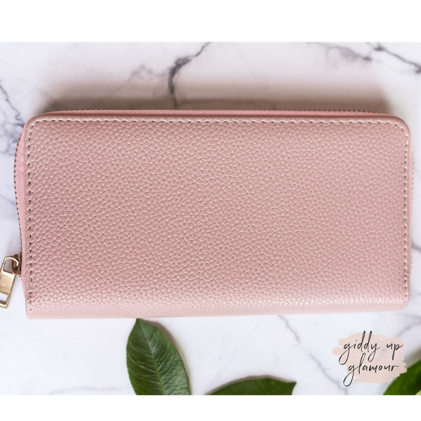 Blush Pink Zip-Around Wallet