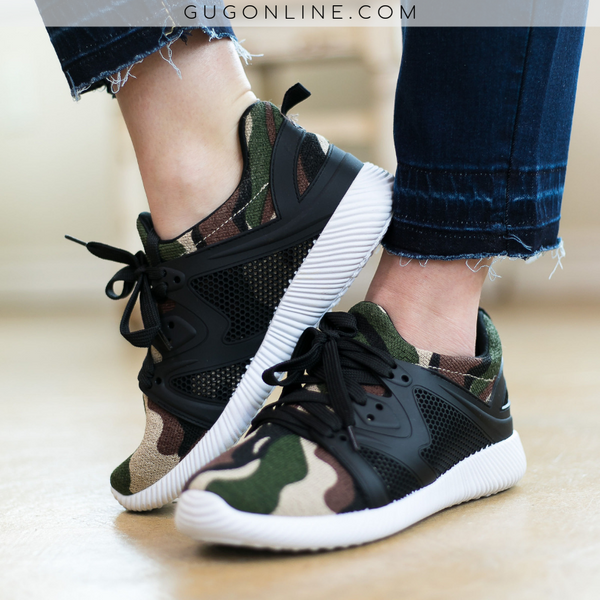 Camouflage Athletic Shoes | Trendy Boutique Sneakers