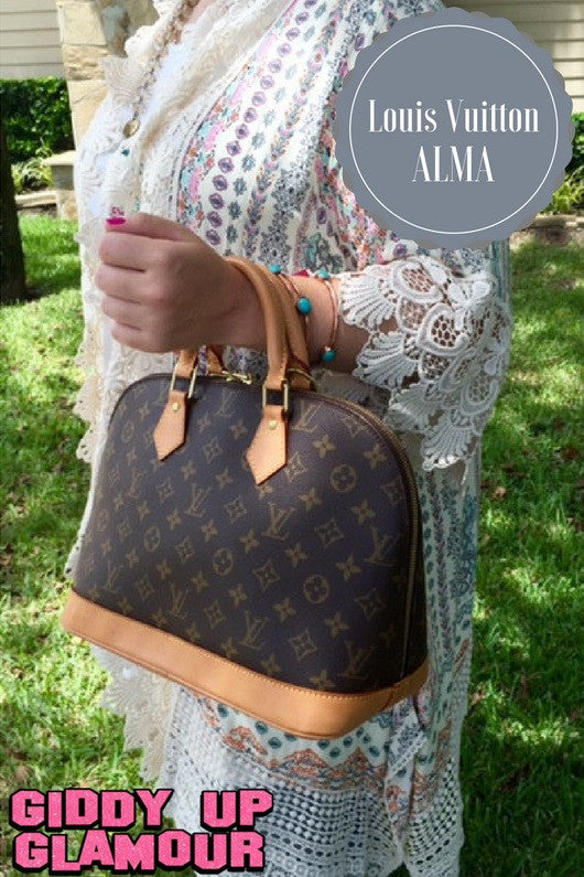 Authentic Used Louis Vuitton Alma PM Handbag In Monogram With - Make a free invoice pdf online louis vuitton online store