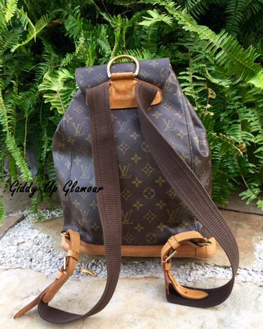 Authentic Used Louis Vuitton Montsouris GM Backpack in Monogram