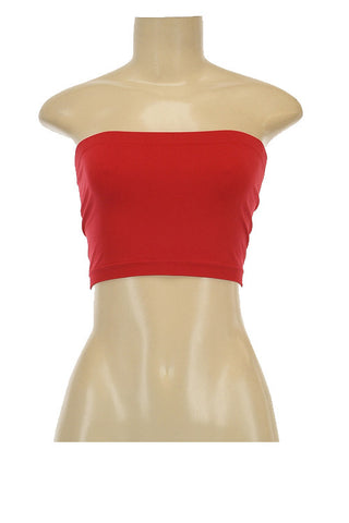 Bandeau Tube Top in Assorted Colors