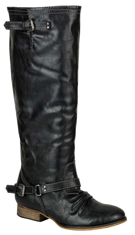 SIZE 6.5 | The Outlaw Riding Boots in Black