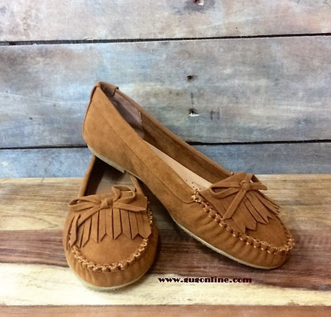 Slip on Moccasin in Tan
