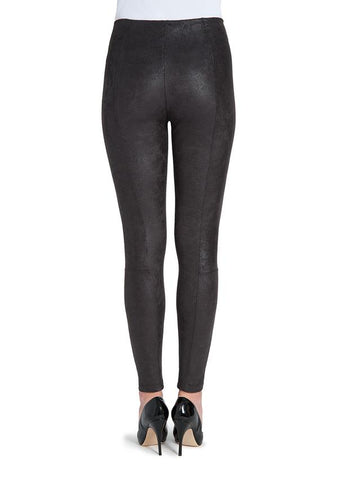 Lysse Premium Buffed Suede Leggings in Black