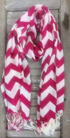 Hot Pink Chevron Scarf
