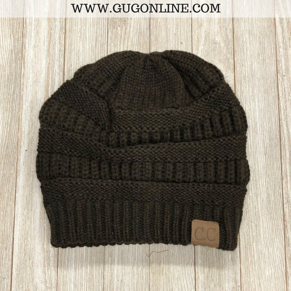 CC Beanie in Chocolate Brown