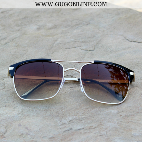 The Avery Aviator Clubmater Sunglasses in Black