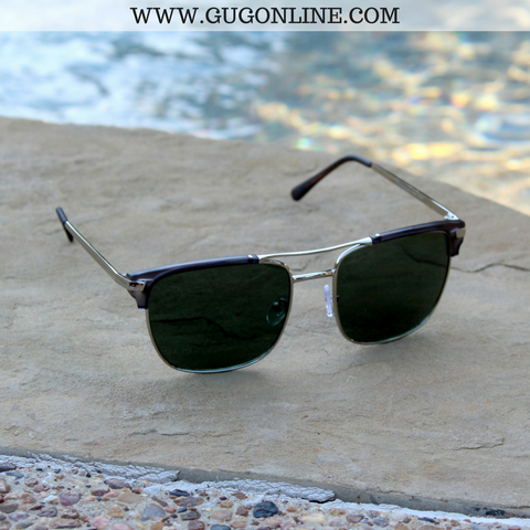 The Avery Aviator Clubmater Sunglasses in Transparent Black