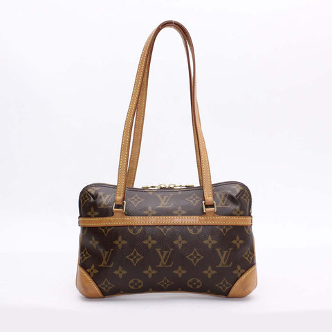 Authentic Used Louis Vuitton Mini Coussin Shoulder Bag in Monogram