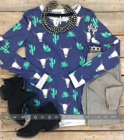 Completely Cozy Navy Southwestern Sweater