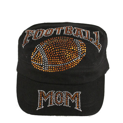 Super Crystallized Football Mom Cadet Style Cap
