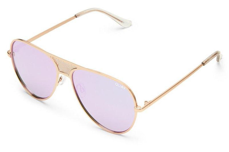 QUAY X KYLIE | Iconic Aviator Sunglasses in Purple Mirror
