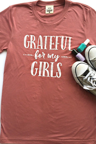 Grateful For My Girls Short Sleeve Tee Shirt