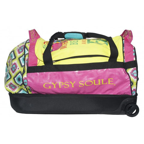 Gypsy Soule Large Rolling Bag in Bright Aztec