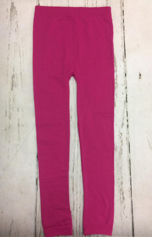 Fleece Lined Plus Leggings in Hot Pink