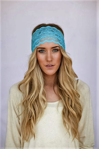 Hippie Chic Lace Headband in Yellow