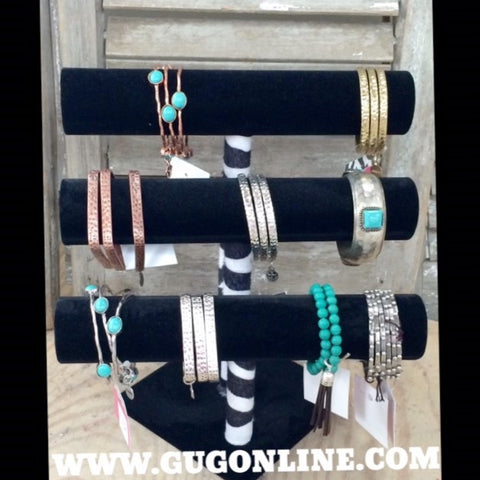 Bracelet Bar in Black and Zebra