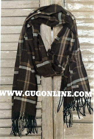 Burberry Like Brown Plaid Scarf