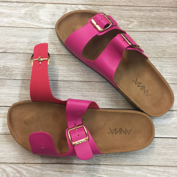 Damaged | Summer Perfection Slide In Sandal in Hot Pink | Size 9