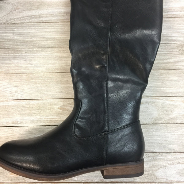 DAMAGED Go My Own Path Riding Boots in Black SIZE 6