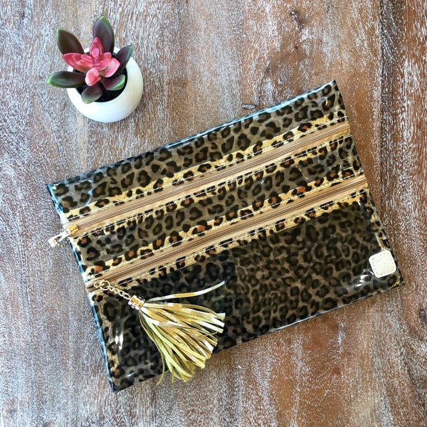 Livin' in Leopard | The Versi Two Pouch Bag in Clear Leopard
