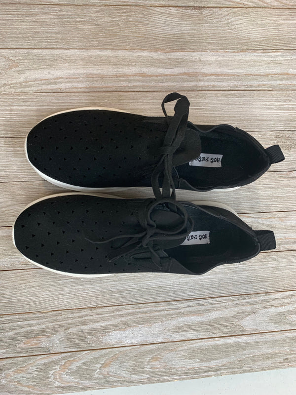 MODELED PAIR | SIZE 8 Marlum Suede Athletic Sneakers in Black